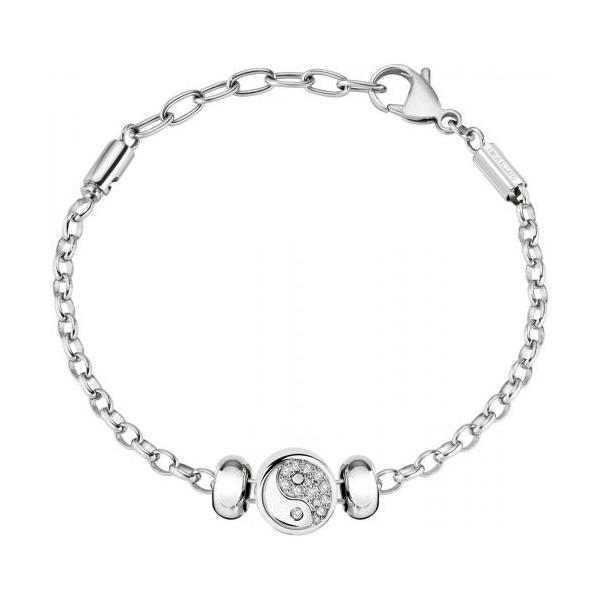 selezionare per lo spazio materiali superiori vari design Morellato bracciale donna in acciaio con charm ying e yang