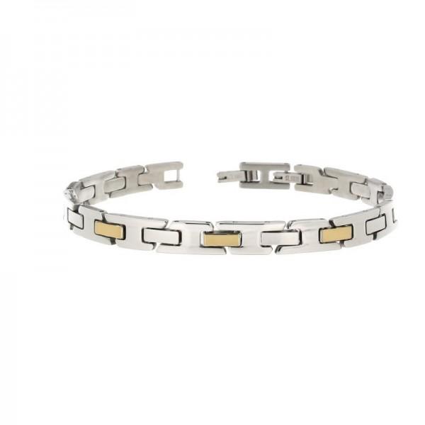 selezione premium 60fa6 27f17 Zoppini bracciale in acciaio e oro 18 kt