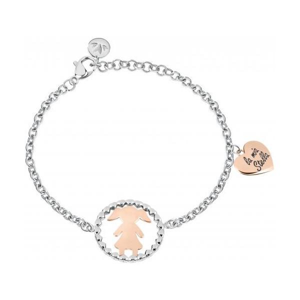 fornitore ufficiale negozio del Regno Unito outlet in vendita Morellato bracciale in acciaio con una bebè nel cerchio
